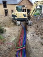 Mise en réseau de l'eau potable, et ptt